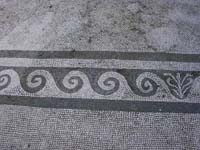 floor mosaic from Faun House dining room in Pompeii